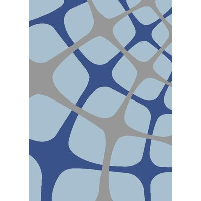 Light Blue Area Rug Rug Size: Rectangle 52 x 72