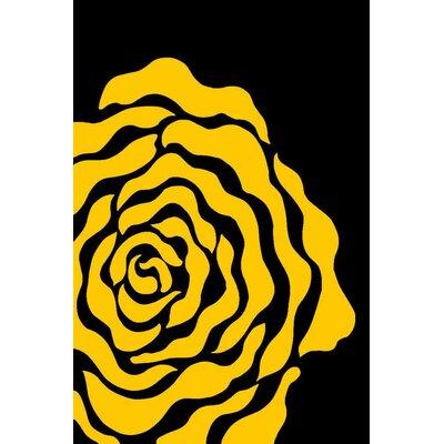 Yellow Area Rug Rug Size: Rectangle 52 x 72