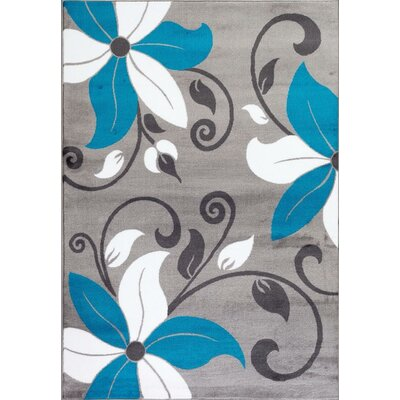 Turquoise Area Rug Rug Size: Rectangle 710 x 102