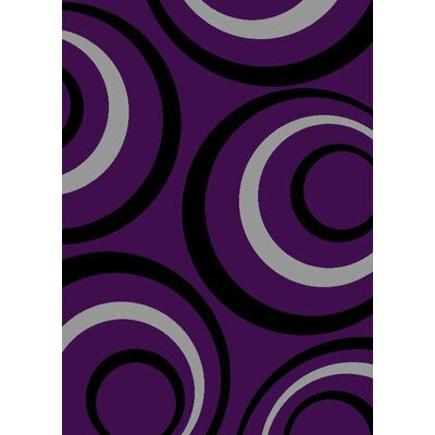 Purple Purple Area Rug Rug Size: 52 x 72