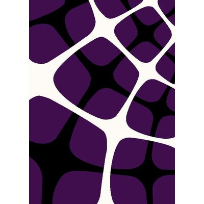 Purple Area Rug Rug Size: Rectangle 710 x 102
