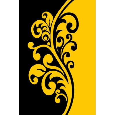 Yellow Area Rug Rug Size: Rectangle 710 x 102