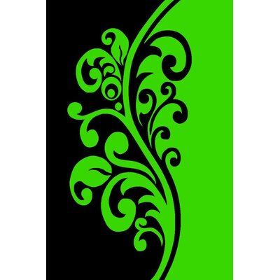 Lime Green Area Rug Rug Size: Rectangle 710 x 102