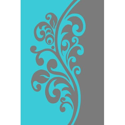 Turquoise Area Rug Rug Size: Rectangle 52 x 72