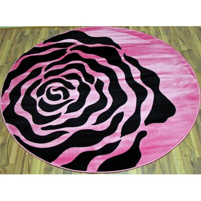 Pink Area Rug Rug Size: Rectangle 710 x 102