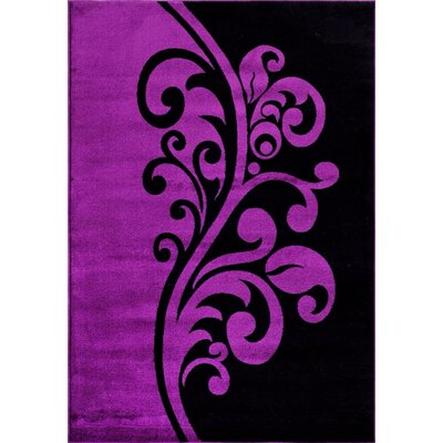 Purple Area Rug Rug Size: 5'2
