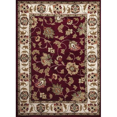 Burgundy Area Rug Rug Size: Rectangle 52 x 72