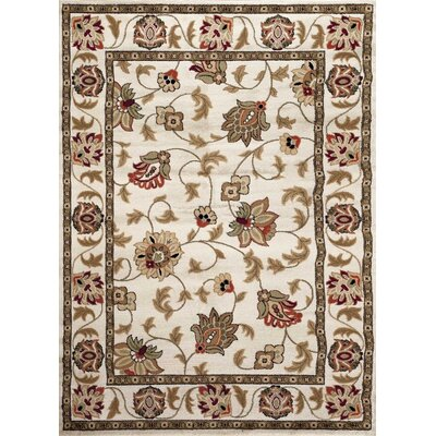 Cream Area Rug Rug Size: Rectangle 52 x 72