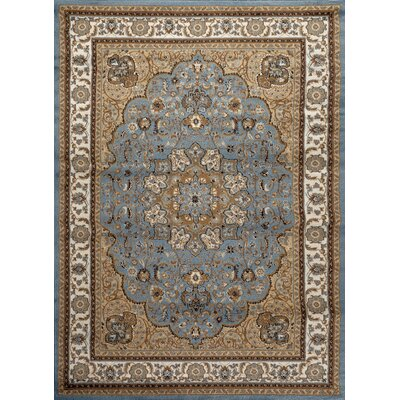 Tobis Modern Blue Area Rug Rug Size: Rectangle 5 x 7