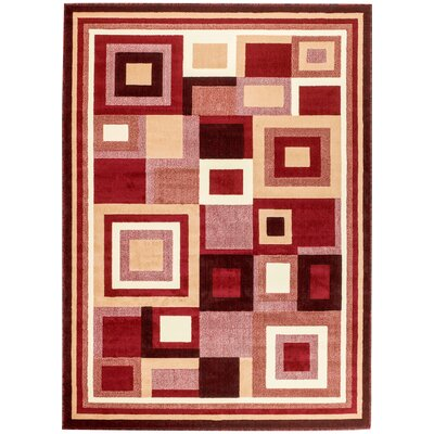 Royal Contemporary Red Area Rug Rug Size: 8 x 11