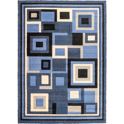 Royal Contemporary Blue Area Rug Rug Size: 8 x 11
