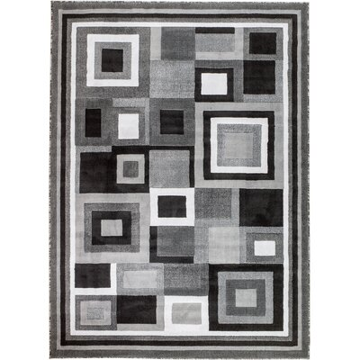 Royal Contemporary Gray Area Rug Rug Size: 8' x 11'