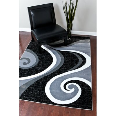 Chelston Abstract Gray Area Rug Rug Size: Rectangle 52 x 72