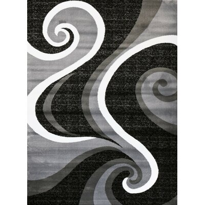Abstract Gray Area Rug Rug Size: 52 x 72