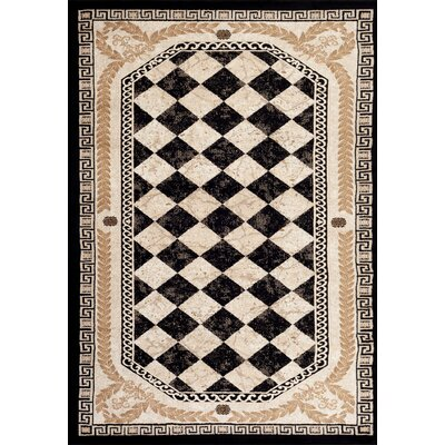 Greek Black Area Rug Rug Size: 52 x 72