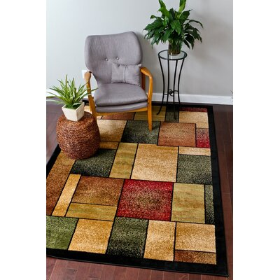 Abstract Burgundy Area Rug Rug Size: 7 x 10