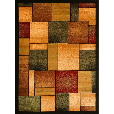 Abstract Burgundy Area Rug Rug Size: Rectangle 52 x 72