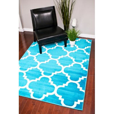 Turquoise Indoor/Outdoor Area Rug Rug Size: Rectangle 4 x 53