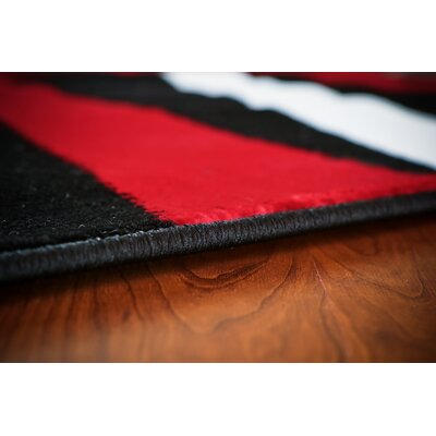 Modern Red Area Rug Rug Size: Runner 22 x 76