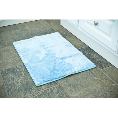 Bath Rug Color: Blue, Size: 17 x 24