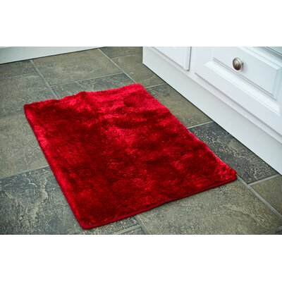 Raffa Bath Rug Size: 17 x 24, Color: Burgundy