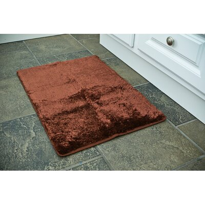 Bath Rug Color: Chocolate, Size: 17 x 24