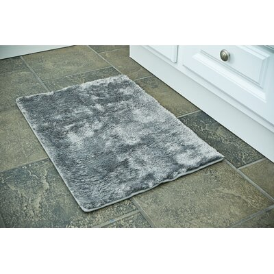 Bath Rug Color: Gray, Size: 17 x 24