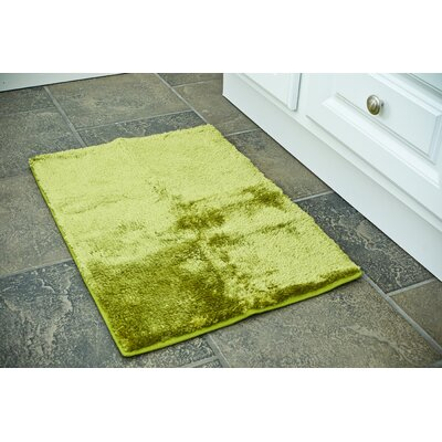 Bath Rug Color: Green, Size: 20 x 32