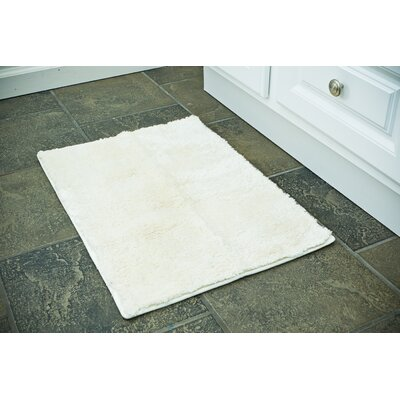 Bath Rug Color: White, Size: 20 x 32