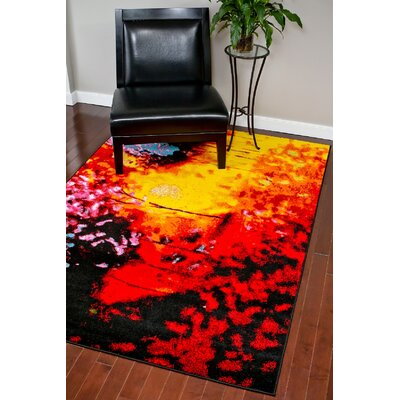 Red Area Rug Rug Size: Rectangle 5 x 7