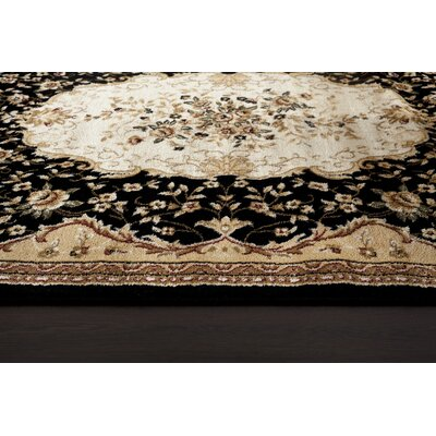 Black Area Rug Rug Size: Rectangle 22 x 78