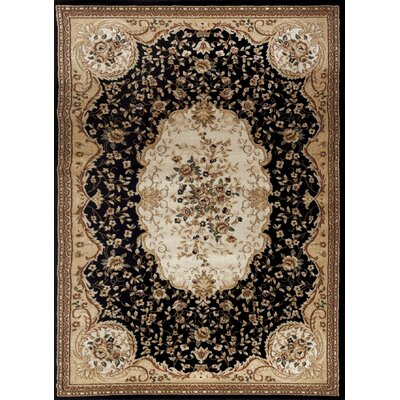 Black Area Rug Rug Size: Rectangle 710 x 102