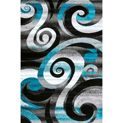 Avalon Turquoise Area Rug Rug Size: 52 x 72