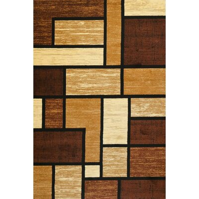 Avalon Brown Area Rug Rug Size: 52 x 72
