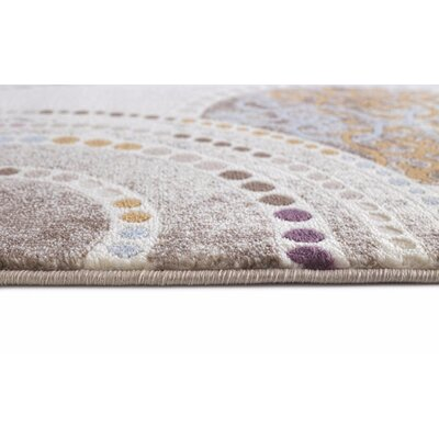 Taksim Beige Area Rug Rug Size: Rectangle 53 x 72