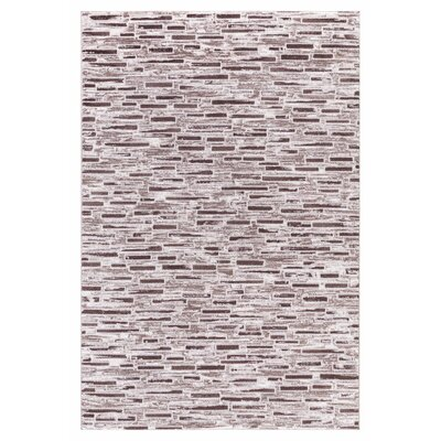 Taksim Brown Area Rug Rug Size: Rectangle 53 x 72