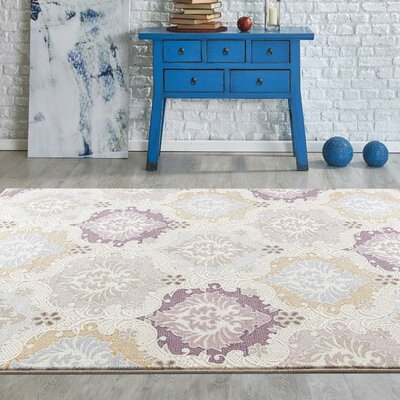 Taksim Cream/Ivory Area Rug Rug Size: Rectangle 2 x 3
