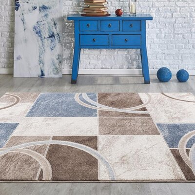 Taksim Neutral Colors Area Rug Rug Size: 2 x 3