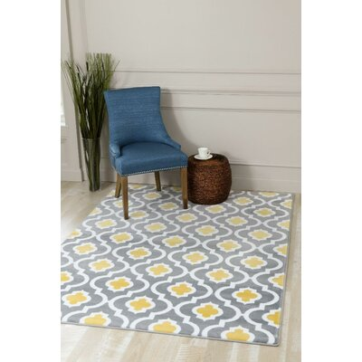 Tobis Yellow Indoor/Outdoor Area Rug Rug Size: 5 x 7