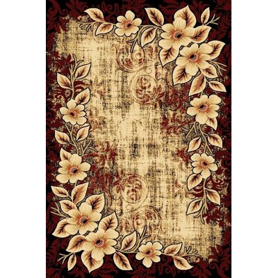 Tobis Burgundy Indoor/Outdoor Area Rug Rug Size: Rectangle 5 x 7