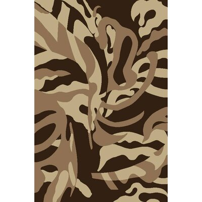 Tobis Brown Indoor/Outdoor Area Rug Rug Size: 5 x 7