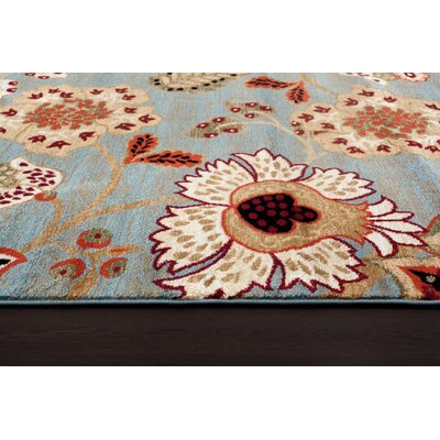 Tobis Blue Indoor/Outdoor Area Rug Rug Size: Runner 22 x 78