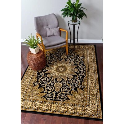 Black Area Rug Rug Size: Runner 2 x 7