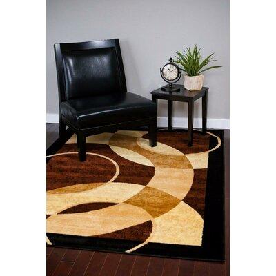Modern Brown Area Rug Rug Size: Round 6
