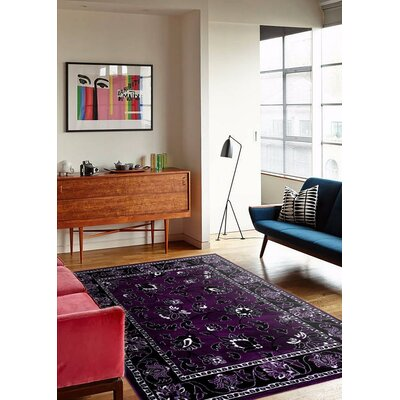 Purple Area Rug Rug Size: Rectangle 52 x 72
