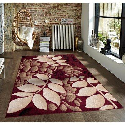 Tobis Burgundy Indoor/Outdoor Area Rug Rug Size: 2 x 3