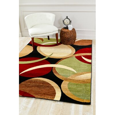 Abstract Black Area Rug Rug Size: Rectangle 710 x 106