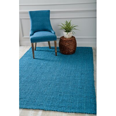 Hand Woven and Knotted Blue Indoor/Outdoor Area Rug Rug Size: Rectangle 5'2