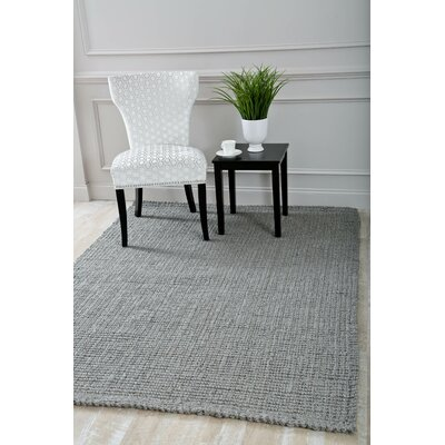 Davor Hand Woven and Knotted Gray Indoor/Outdoor Area Rug Rug Size: Rectangle 52 x 72