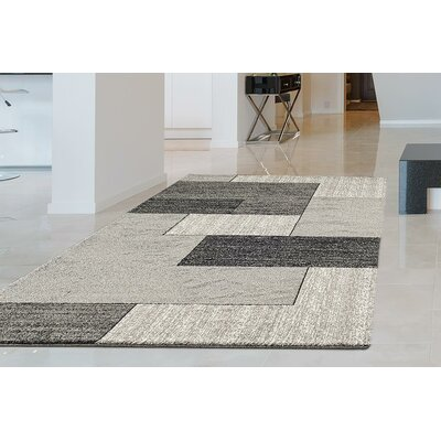 One-of-a-Kind Valladares Hand Woven Gray Area Rug Rug Size: Rectangle 52 x 72